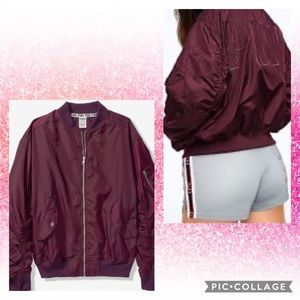 ❤️2 Pieces set Flight jacket pink and shorts❤️